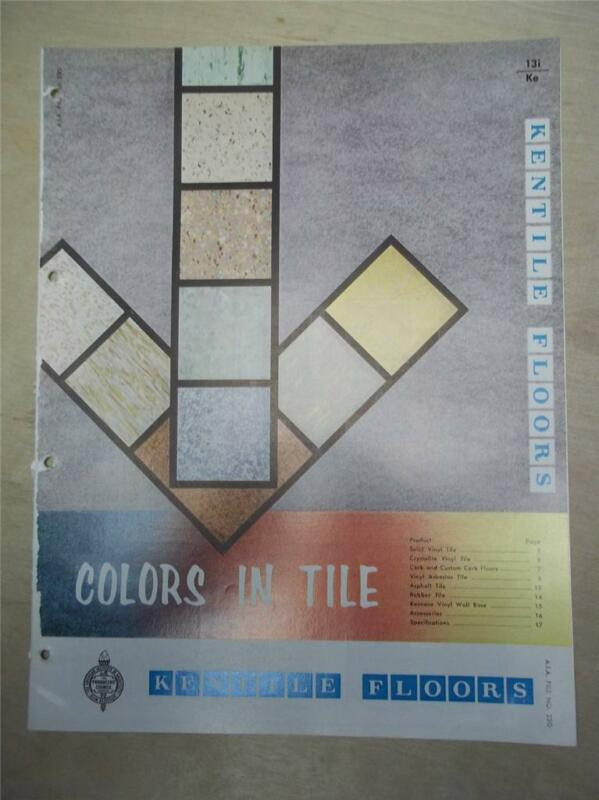Kentile Floors Catalog~Vinyl-Asbestos Floor Tile/ Flooring~1961