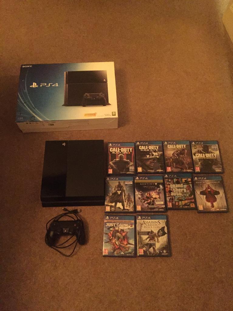 PS4 + 10 games