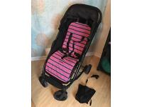 Mamas and papas sync pushchair/buggy with liner and parasol