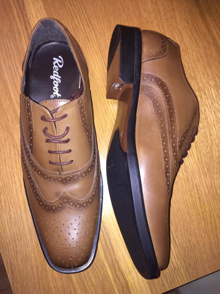 BRAND NEW Men's tan Oxford Brogue Shoe - Size 10
