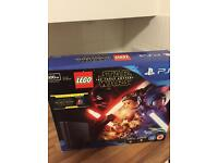 BRAND NEW & SEALED SONY PLAYSTATION 4 500gb SLIM with Star Wars Lego and Star wars movie