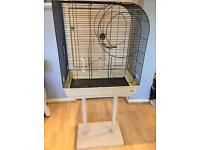 Budgie/ small bird cage and stand