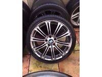 """Bmw m3 19"""" silver alloy wheel Can Post"""