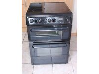 6 MONTHS WARRANTY Hotpoint C367 60cm, double oven electric cooker FREE DELIVERY