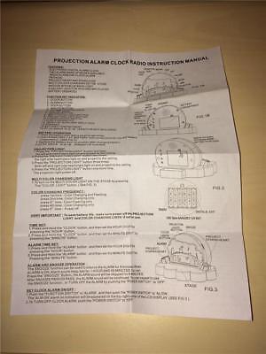 MY LITTLE PONY PROJECTION ALARM CLOCK RADIO Instruction Manual Only - 2013 - (My Little Pony Projection Alarm Clock Radio)
