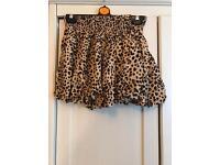 Size 10 leopard skirt