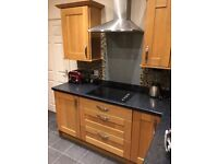 Solid Oak Modern Kitchen Units (includes extras)