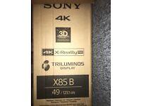 Sony Bravia 4K 49inch 3D XRealityPro TV
