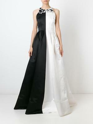 ALEX PERRY Women's Dress rrp $2700.00 Black and White Silk Gown Size AU 8  US 4