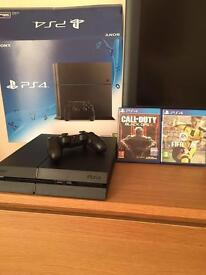 PS4 nearly new plus 2 top games