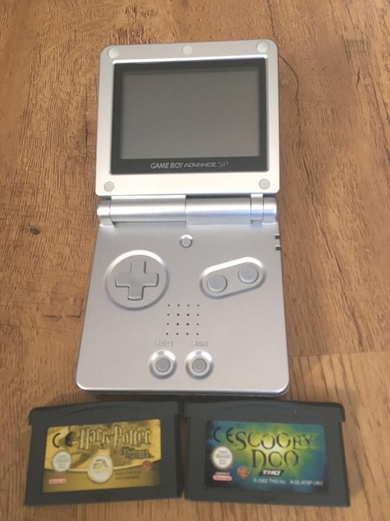 game boy advance with 2 games for sale