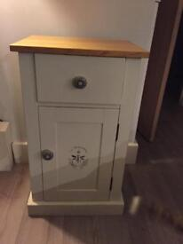Hand painted solid cabinet
