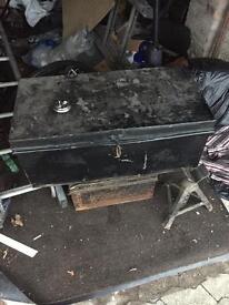 Large lockable metal chest