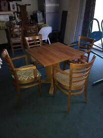 Table and x4 chairs. (Various others available.. please enquire)