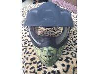 Camouflage paintball mask