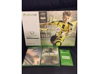 UNOPENED Xbox one s (white) 500gb with COD, Forza and FIFA 17 & 12 months live!