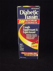 Diabetic Tussin DM Maximum Strength Sugar & Alcohol Free Safe for Diabetics 3/15