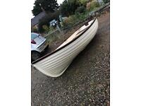 10ft clinker style GRP dingy , dory , fishing boat