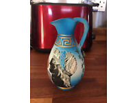Stunning Hand Made Colourfull Jug From Greece