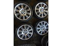 "18"" BMW M3 ALLOY WHEELS FOR BMW 1 SERIES 3 SERIES COMPACT SET OF 4"