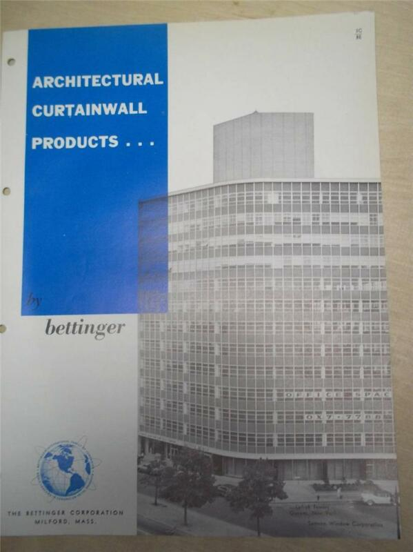 Bettinger Corp Catalog~Curtain Wall Panels~Asbestos~1962