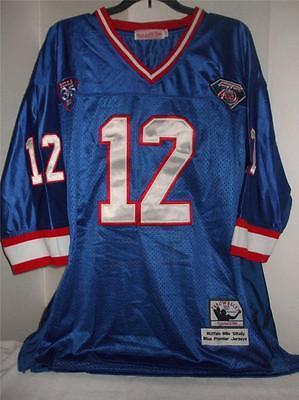 NFL Buffalo Bills 1994 Throwback Authentic #12 Kelly Blue Premier Jersey 52 NWT