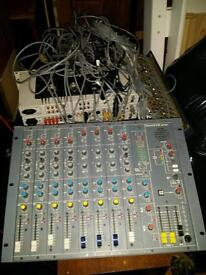 Professional Studio Equipment Soundcraft B100 Mixer and CPS 150 Cables AV Controllers