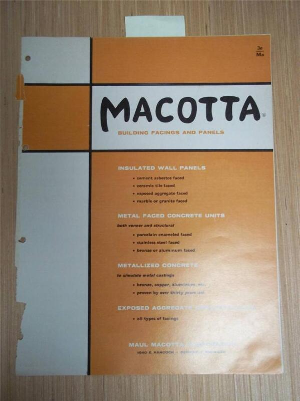 Maul Macotta Corp Catalog~Building Facing/Wall Panels~Asbestos~1962