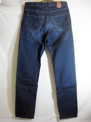 LOUIS VUITTON BLUE DENIM JEANS BROWN LEATHER TAB SIZE 30 BRAND NEW WITH BOX LV