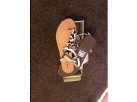 Summer flat animal print thong sandals new **