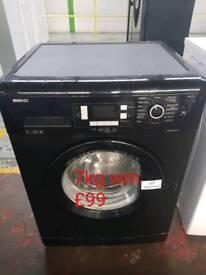 Beko black 7kg washing machine free delivery in Oakham