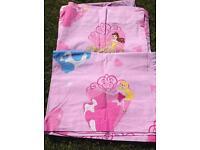 Disney Princess bedding, curtains and light shade