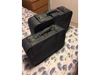 Classic twin suitcases suitable for vintage wedding
