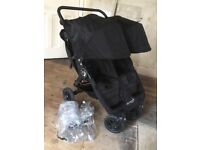 Excellent Condition Baby Jogger City Mini GT Double Buggy in Black with New Logo