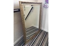 Large gold gilt framed mirror for sale