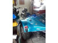 this trike is a complete rebuild in emaculate condition