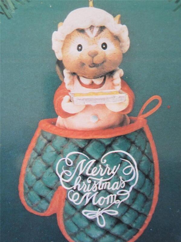 1994 Enesco Christmas Ornament Sweet Greetings Merry Christmas Mom 595578 NIB