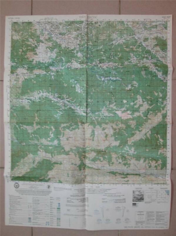SIEGE OF TIEN PHUOC Special Forces Camp A102 LZ Pleasantville VIetnam map 6639 I