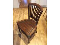 Pair of Solid Wood Farmhouse/Wingback Chairs