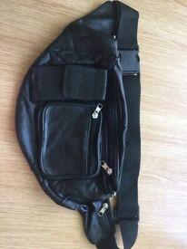 Leather travel bag waist bag holiday belt bag