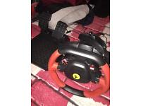 Thurstmaster Ferrari Italia steering wheel and peddles for Xbox one or Xbox 360