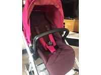 Mamas and papas urbo pushchair and carry cot