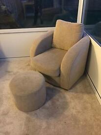 Arm chair and footstool for sale RRP £349