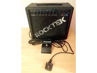 Rocktek 35W guitar amp and foot pedal - ready to rock!