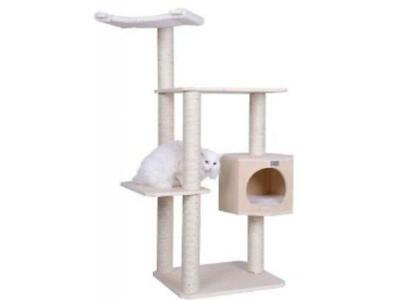 New Intent plot Armarkat Double Base Solid Wood 54 Cat Tree Tower House Brand S5402