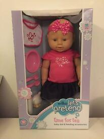 Baby doll & feeding accessories £13