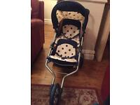 Dolls double buggy/pram