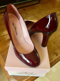 Beautiful Agent Provocateur 'Katy Red' patent shoes in size 36