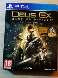 Deus Ex -Mankind Divided- Steelbook Edition PS4
