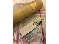 New burberry scarf with box ,tags